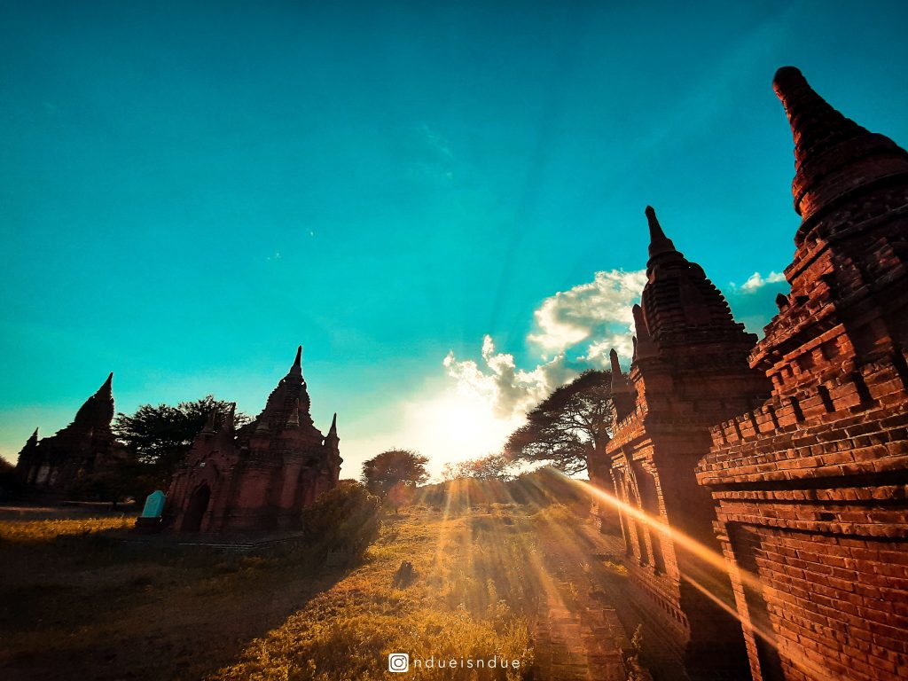 Wonderful Sunset in Bagan